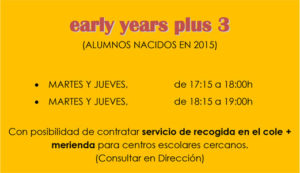 early years plus 3